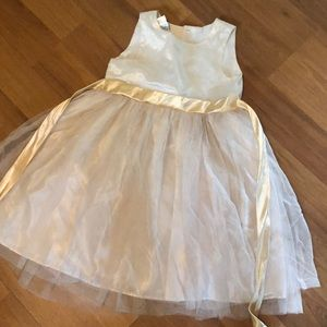 Gold and cream sparkly dress